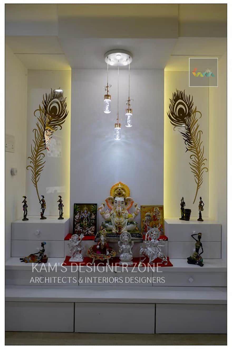 Mandir interior design dining room by kam   designer zone also ideas inspiration pictures in arun rh pinterest