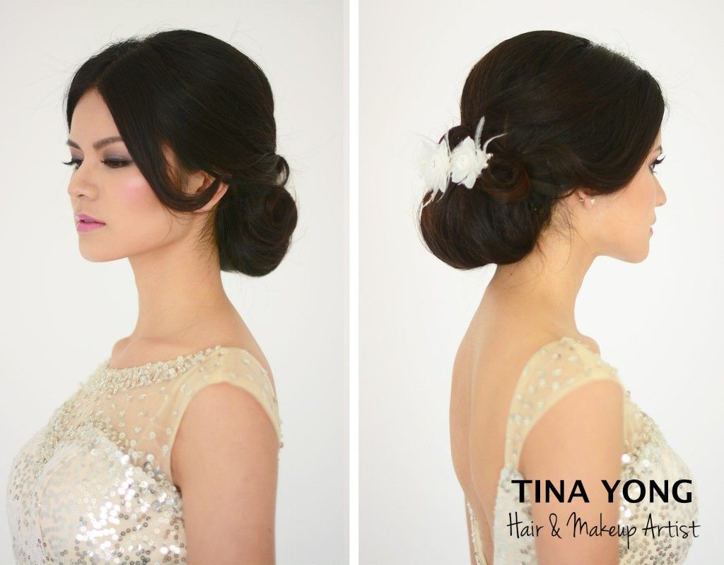 bride hair updo dark hair - Google Search | Hair style | Pinterest ...