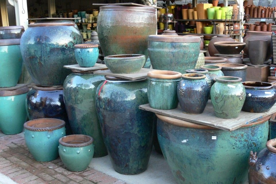 We Carry A Large Selection Of Glazed Pottery In Many Colors And Styles.