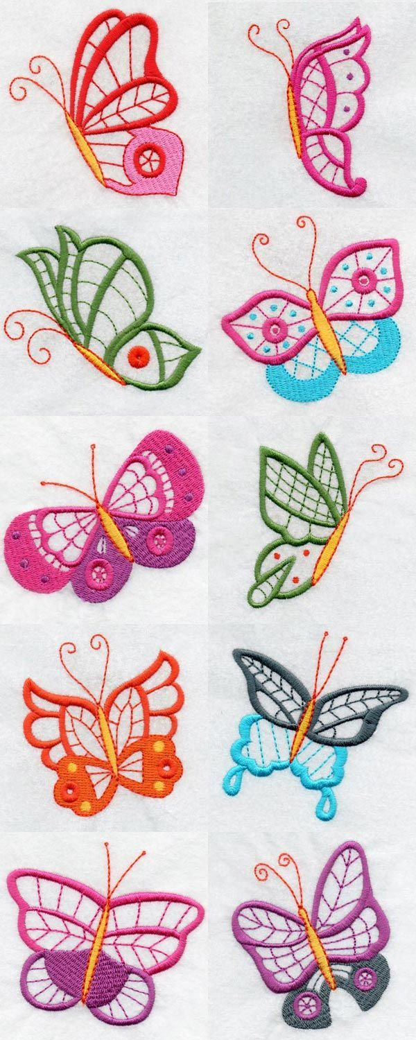 Butterfly Embroidery Machine Design Details | Manualidades ...