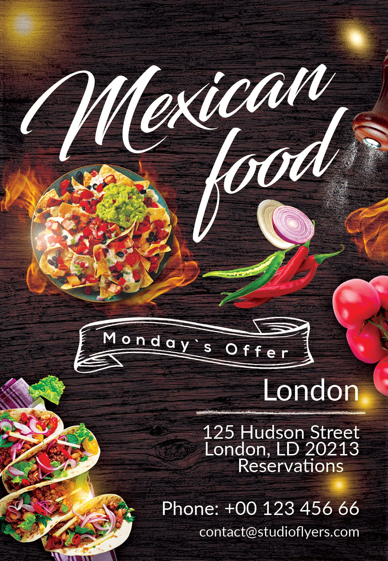 Mexican Food Free PSD Flyer Template | Free psd flyer ...