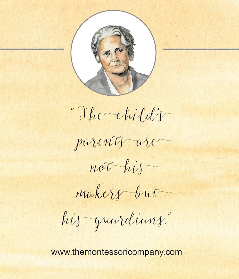 Maria Montessori Quotes: Pin By The Montessori Company On Montessori Quotes By The