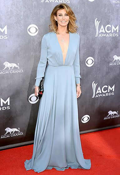 Faith Hill In Saint Laurent - ACM Awards 2014 - Red Carpet