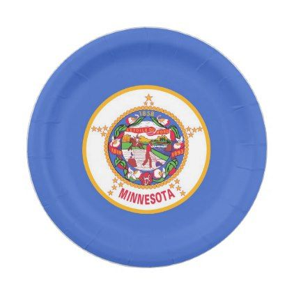 Patriotic paper plate with flag of Minnesota - home gifts ideas decor special unique custom inidual  sc 1 st  Pinterest & Patriotic paper plate with flag of Minnesota - home gifts ideas ...