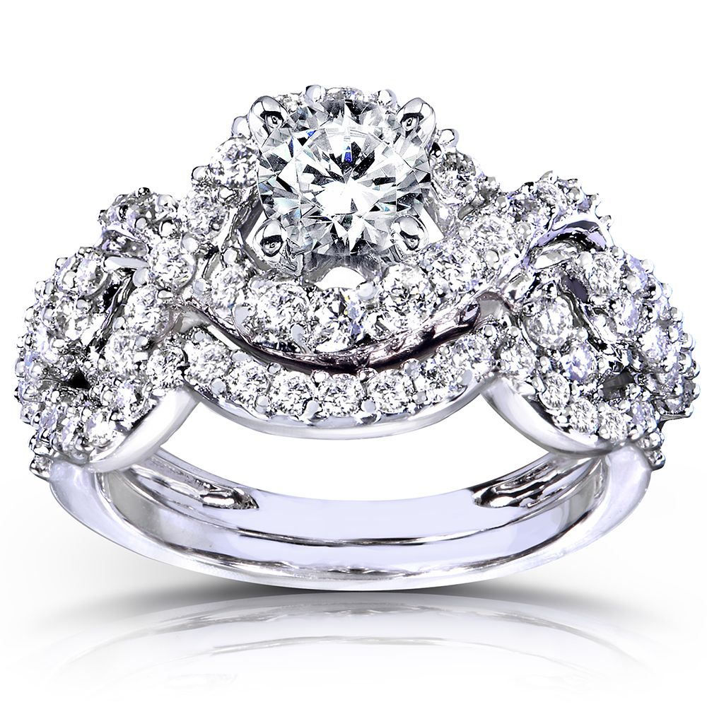 Annello by Kobelli 14k White Gold 1 1/4ct TDW Diamond