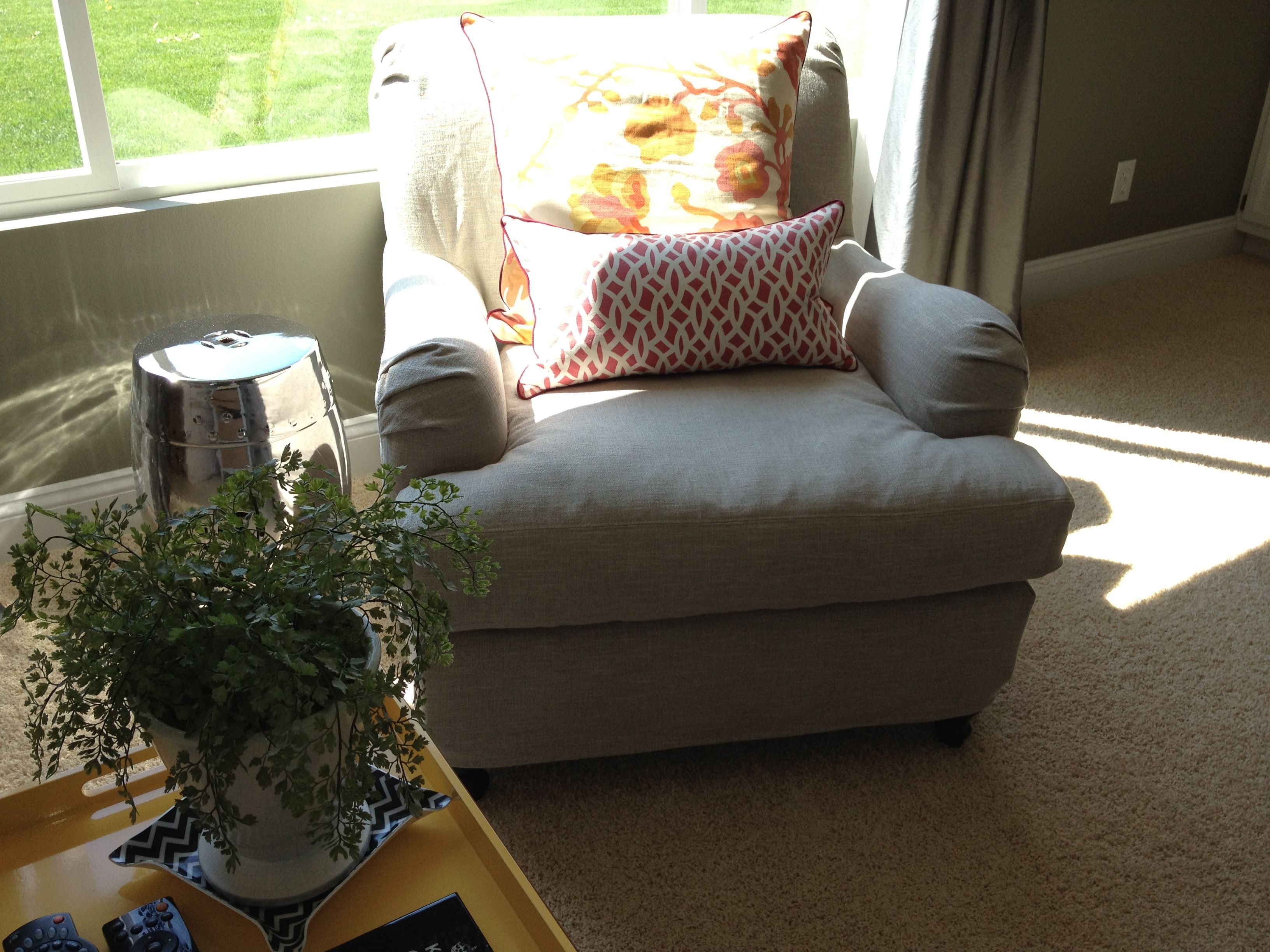 Pottery Barn Carlisle Slipcover In Washed Grainsack Flax Color Formal Living Slipcovers Living Room