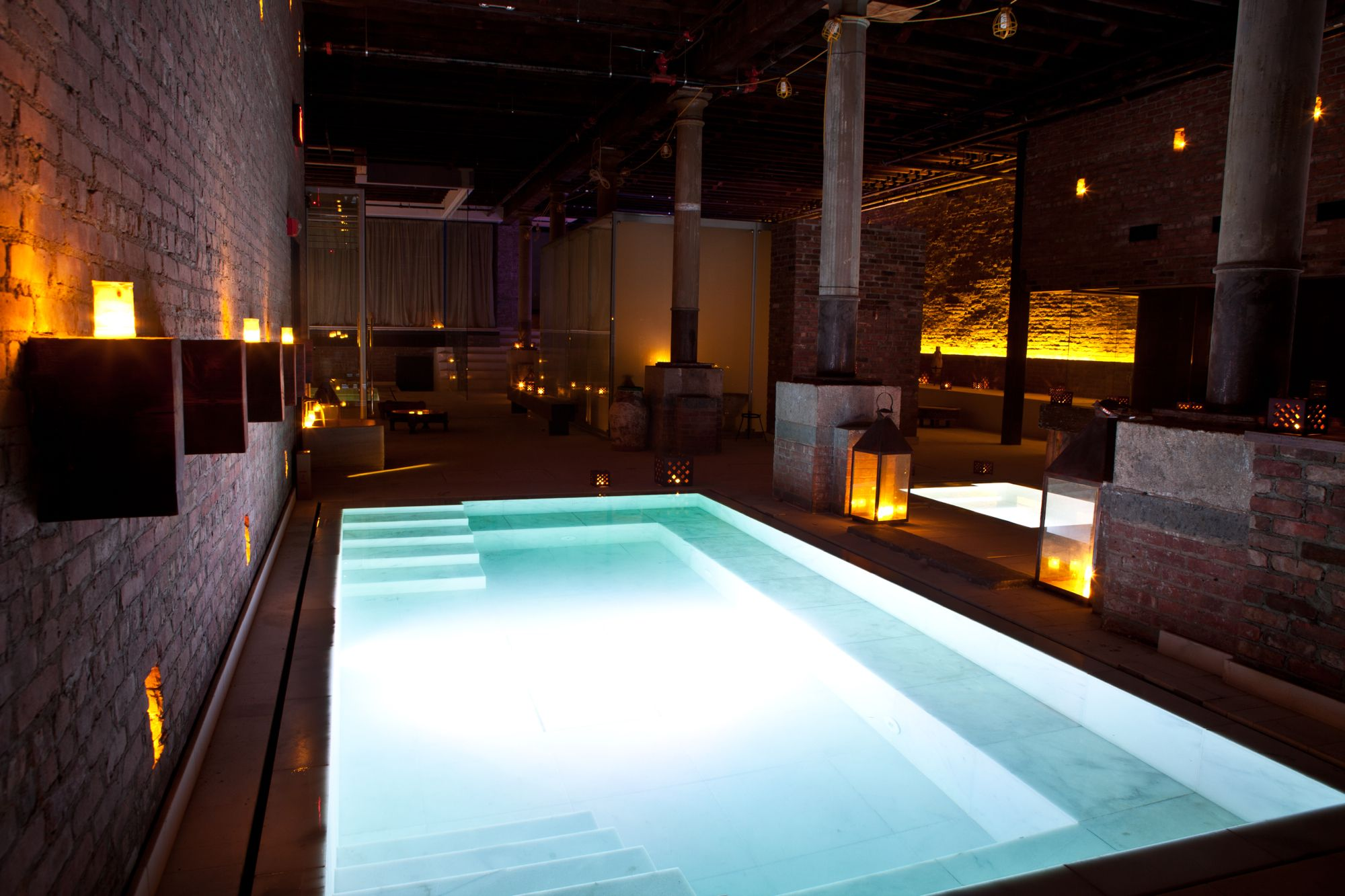 Underground Roman Baths in NYC Japanese bath house