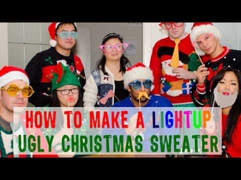 Diy light up ugly christmas sweater christmas ideas pinterest diy light up ugly christmas sweater solutioingenieria Image collections