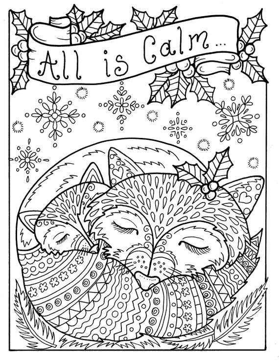 5 Pages Of Christmas Coloring Pages Fun And Whimsical Etsy Christmas Coloring Pages Unicorn Coloring Pages Mermaid Coloring Pages