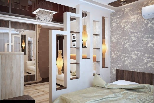 Half Wall Room Divider Ideas Shelf Double Sided Gl Fireplace Dividers Bedroom