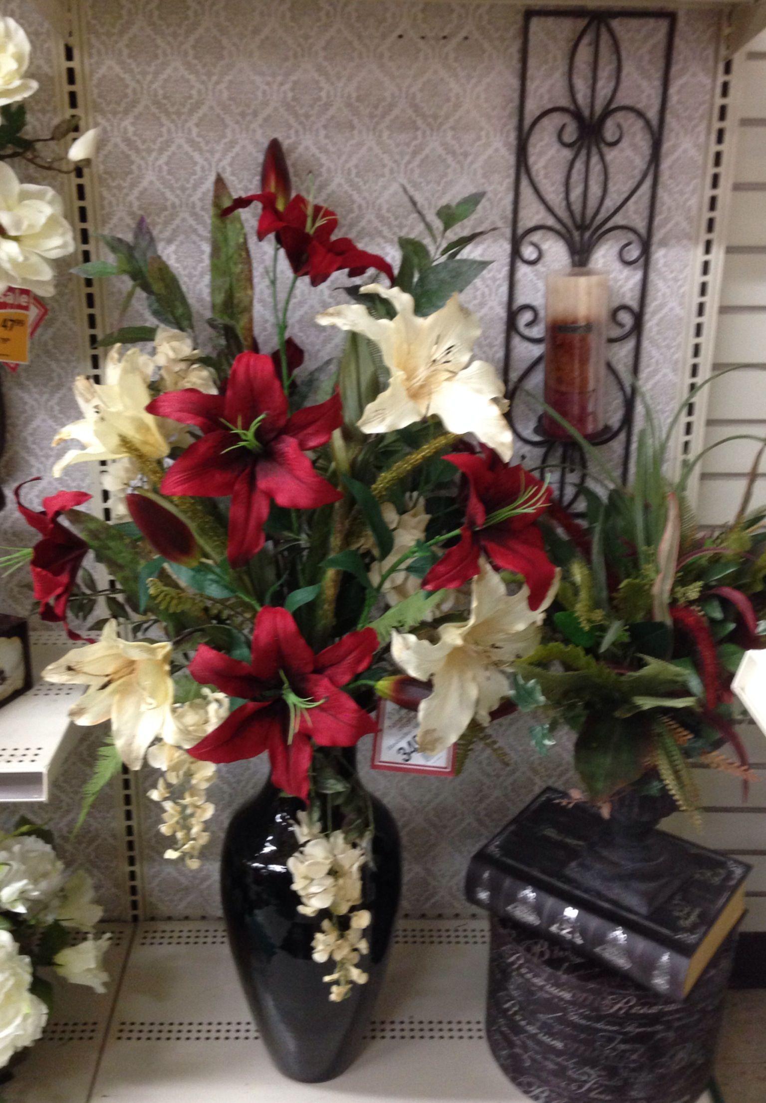 Red lilies floral arrangement design tara