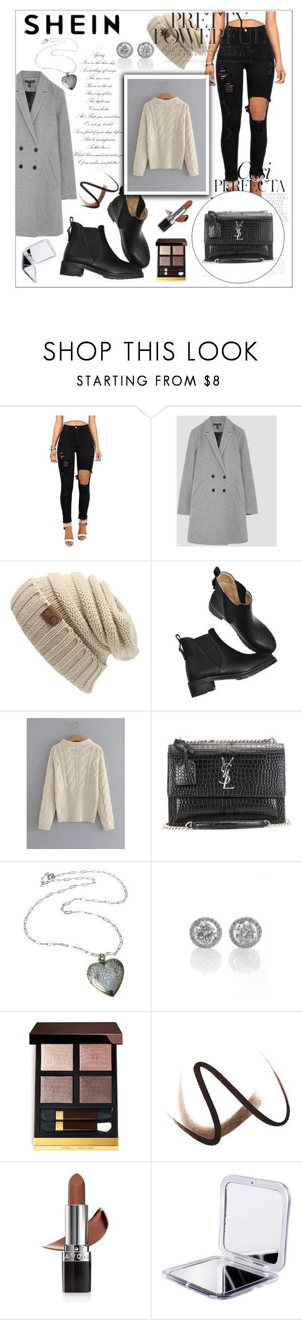"""Cable-Knit-Jumper-Sweater"" by sabina-mehic656 ❤ liked on Polyvore featuring Whiteley, Yves Saint Laurent, Burberry and Avon"