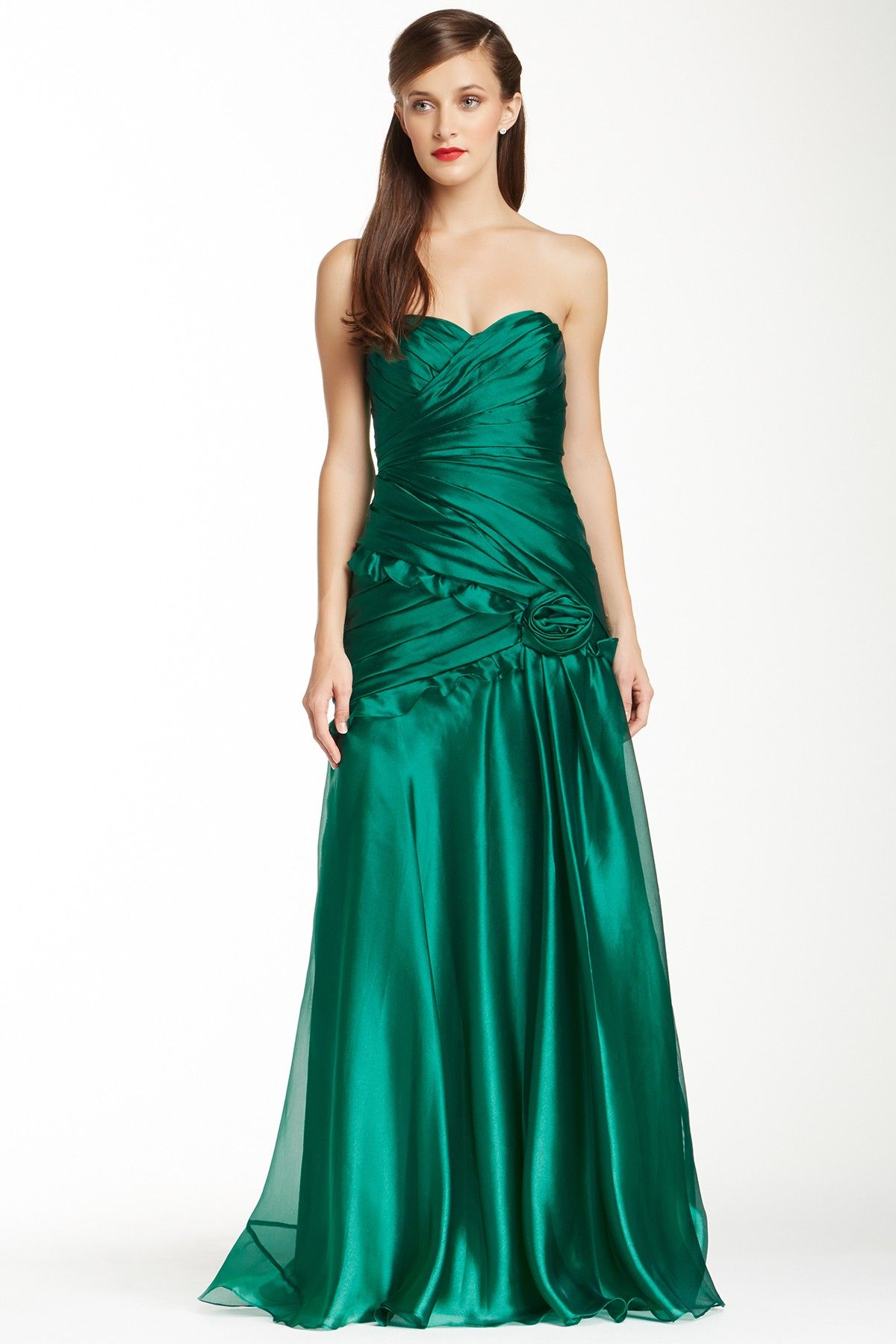 Theia Wrapped Sweetheart Dazzle Gown by Theia on ...