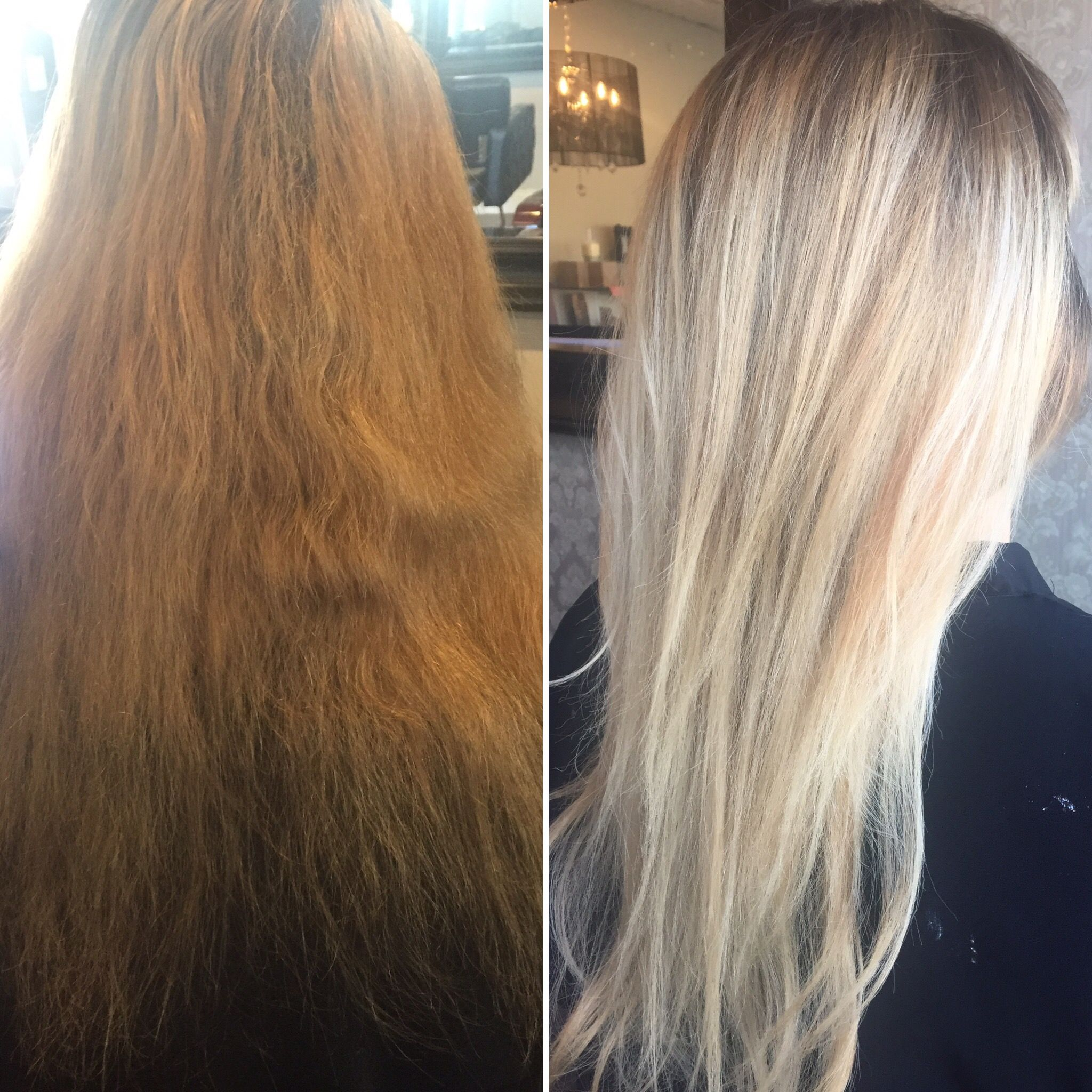 Hair Makeover Before To After Blonde Light Blonde Long Hair