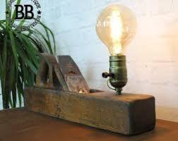 Resultado de imagem para wood block edison lamp lamp in