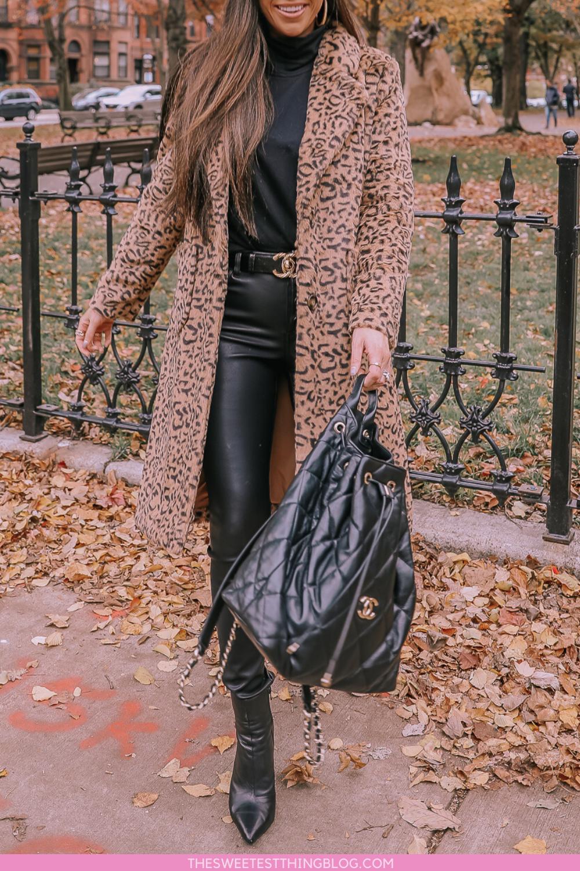 Leopard Faux Fur Coat | Fur coat outfit, Winter fashion