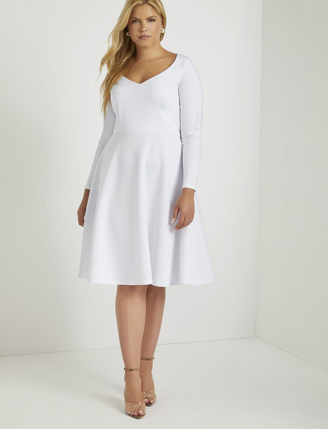 Sweetheart Fit And Flare Dress Women S Plus Size Dresses Eloquii Fit And Flare Dress Long Sleeve Cocktail Dress Plus Size Dresses [ 1370 x 1050 Pixel ]