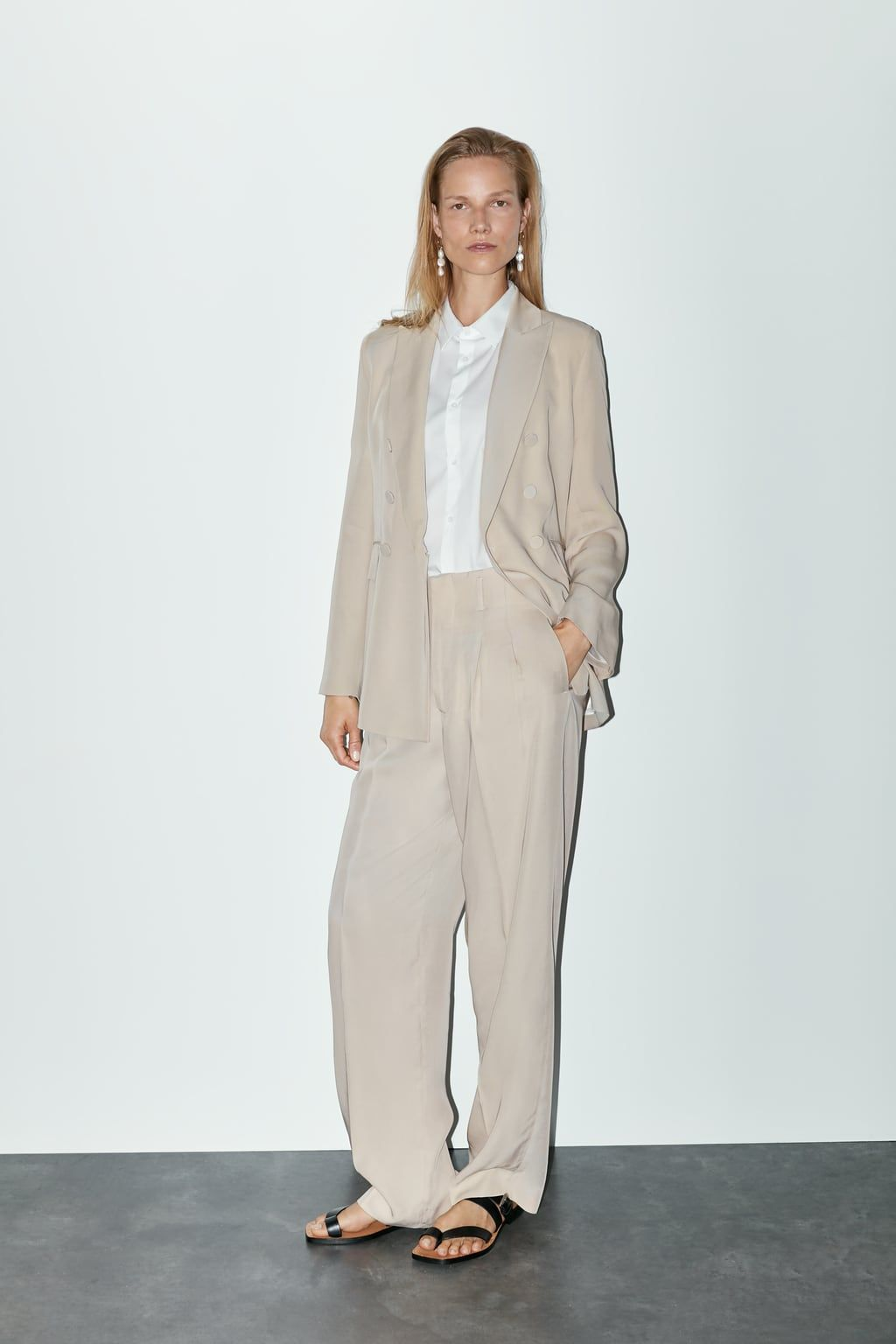 Photo of WIDE-CUT TROUSERS WITH DARTS