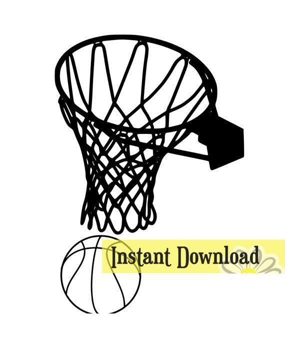 Basketball Hoop Net Svg Fantasy Basketball Basketball Net Cyo Basketball