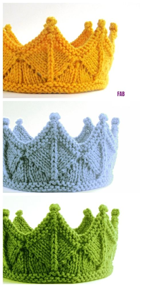 Knit Circlet Crown Free Knitting Pattern #knittingideas