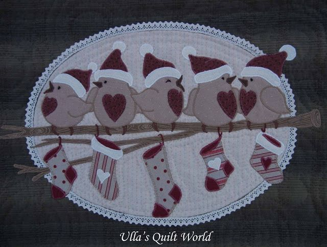 Pattern for bird quilts wall hanging