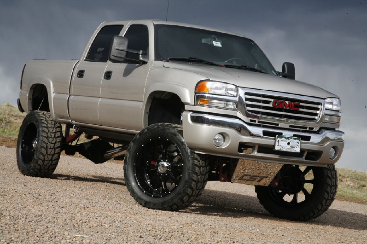 Monster Lifted Trucks Wallpaper Lifted Silver Gmc Sierra Truck