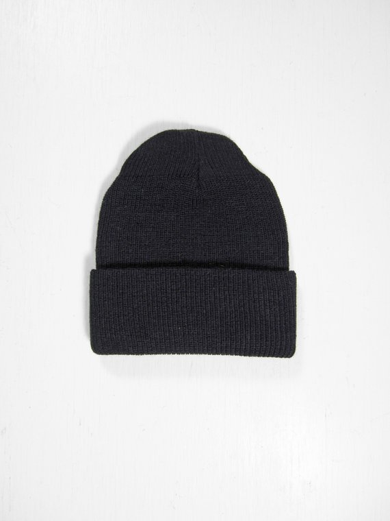 d855f6f0e Vintage US Navy Watch Cap NOS Knit Hat Black Wool Military Winter ...