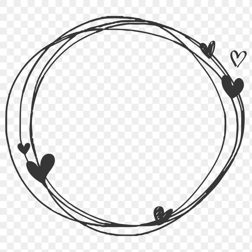 Doodle Heart Frame Transparent Png Free Image By Rawpixel Com Sasi Heart Frame Love Frames Valentines Frames