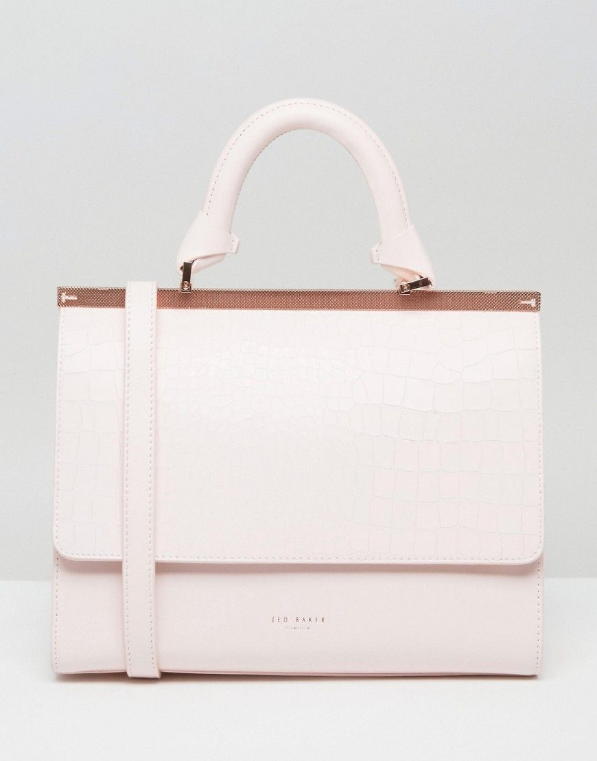 a1a4df7cc4f3 Discover women s fashion online with ASOS. Ted Baker Textured Bar Top Handle  Tote - Pink