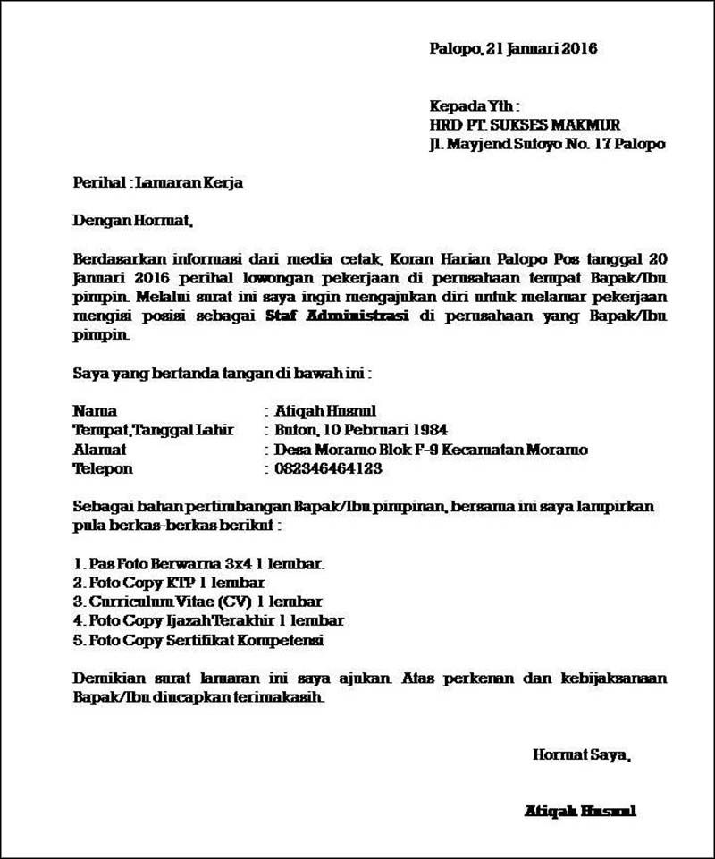 Pin Oleh Nandaputri Np Di Cv Kreatif Surat Tulisan Kerja