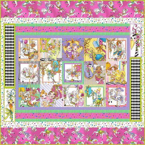 Carousel Quilt Fab Fabrics Pinterest Carousel Easy Quilt
