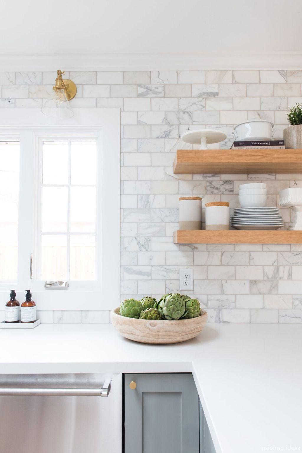 80 Beautiful Modern Farmhouse Kitchen Backsplash Ideas Kitchen