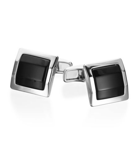 Alfred Dunhill - Cufflink Collection Sterling Facet Square Onyx