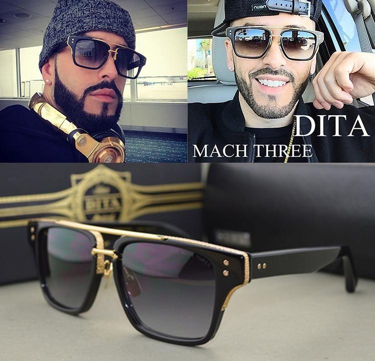 2016 nova moda Dita Mach três óculos De Design da marca quadrado quadro Retro  Vintage luxo óculos De Sol Oculos De Sol Gafas em Óculos Escuros de Roupas  e ... 3bd2cfdd3d