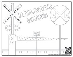 Image Of Train Signs Railroad Signs 1 Coloring Page Coloring