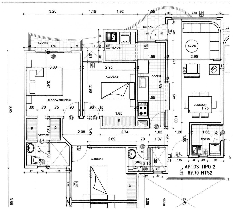 Ver planos arquitect nicos planos de dise os house for Diseno de apartamento de 4x8 mts