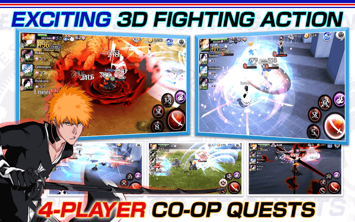 Bleach Brave Souls v5.2.0 [Mod]   Bleach Brave Souls v5.2.0 [Mod]Requirements:4.0 and upOverview:3D graphics and simple controls make for free-flowing and fast-paced hack-and-slash action.  EXCITING 3D ACTION 3D graphics and simple controls make for free-flowing and fast-paced hack-and-slash action. EPIC SPECIAL MOVES Unleash each Bleach character's unique special moves to carve your way to victory. Special moves are fully voiced by the original Japanese anime voice actors.  THREE'S COMPANY…