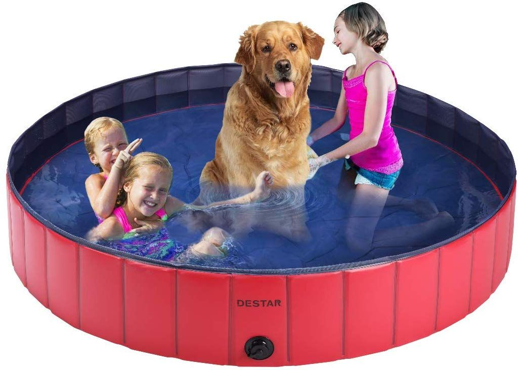 Portable Convenient The Dog Bath Pool Is Portable And Convenient For People To Carry And Store At Any Time Whi In 2020 Outdoor Bathtub Swimming Pool Toys Dog Bath
