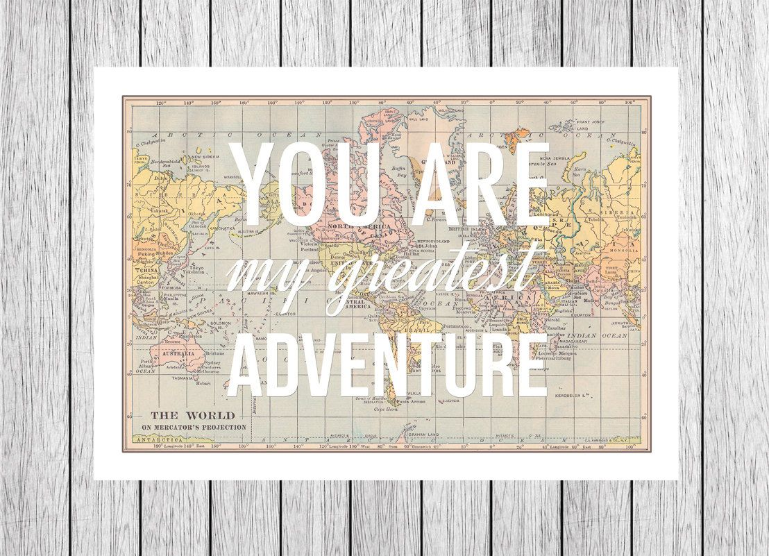 You are my greatest adventure world map poster map art you are my greatest adventure world map poster map art wanderlust nursery gumiabroncs Images