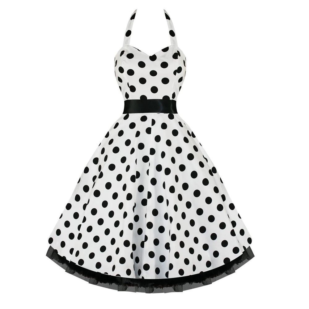 Hearts u roses s rockabilly swing party prom dress white black