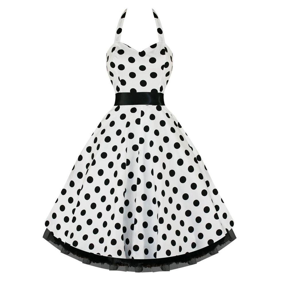 Hearts u roses s rockabilly swing party prom dress white black