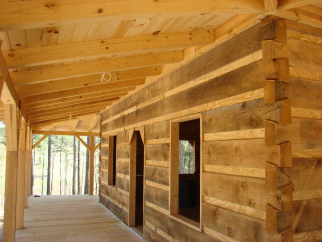 Under Construction Of Dovetail Cabin Kit In The Mountains On Site Log Cabin Homes Log Homes Log Home Interior