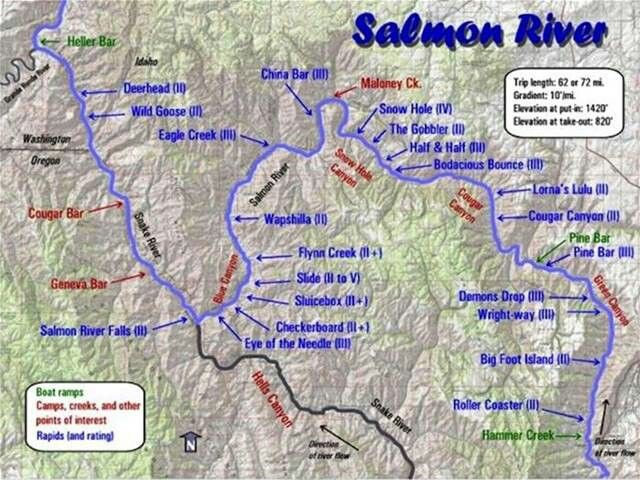 Map Of The Salmon River Challis National Forest Beautiful Things