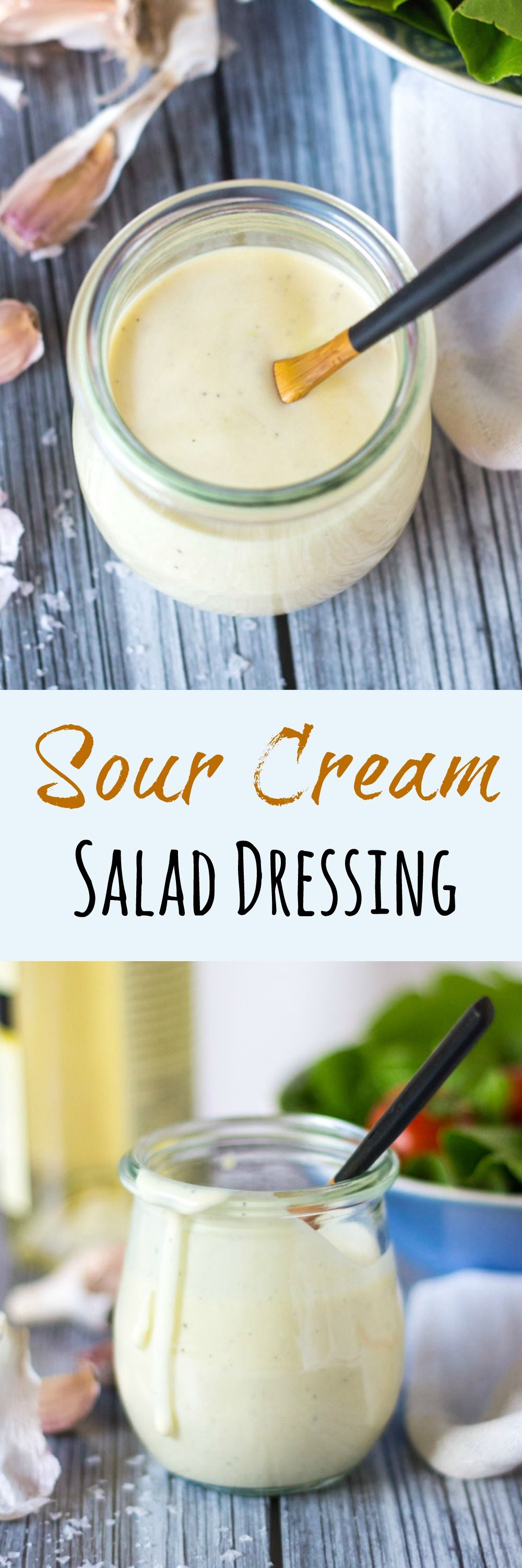 A Quick Easy 5 Minute Sour Cream Salad Dressing Recipe Sour Cream Salad Dressing Keto Salad Dressing Recipes