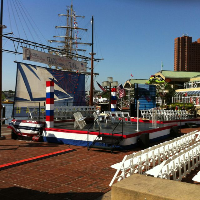 Creating the welcome ceremony for Sailabration 1812