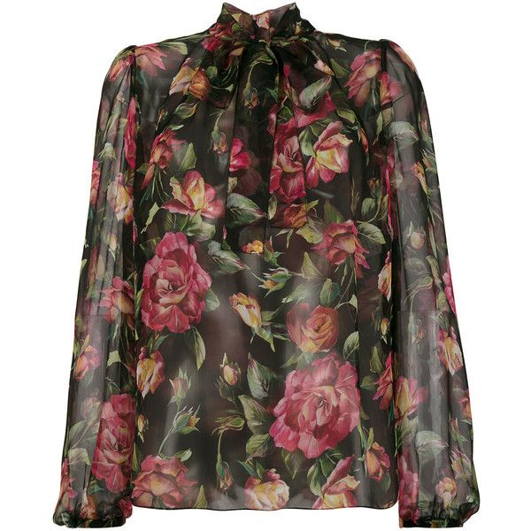floral-print blouse - Black Dolce & Gabbana Discount Enjoy Clearance Outlet Locations Sale Browse Fast Delivery Sale Online CgeTRRof