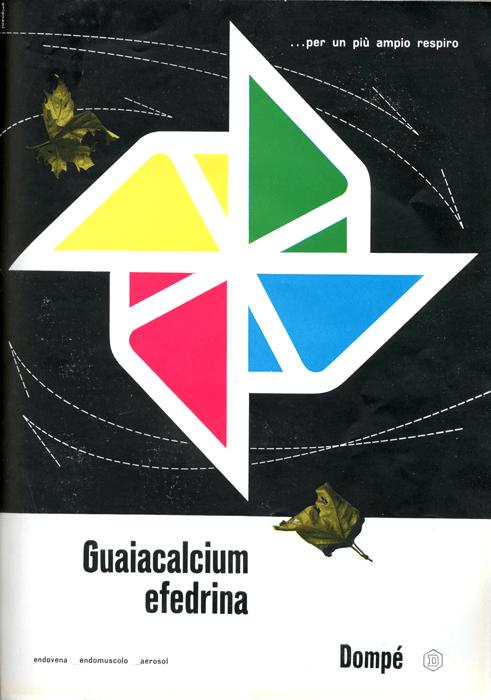abbastanza AIAP - Franco Grignani - Pagina pubblicitaria - Guaiacalcium  IO35