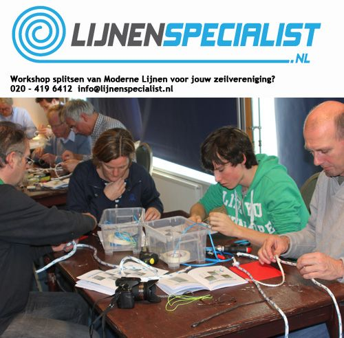 Workshop splitsen van Moderne Lijnen voor zeilers, leuk om te doen met je vereniging. #zeilen #sailing