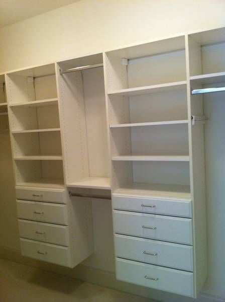 Superbe Custom White Laminate Closet Systems