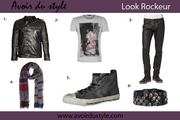style vestimentaire rockeur pour homme avoir du style homme pinterest. Black Bedroom Furniture Sets. Home Design Ideas